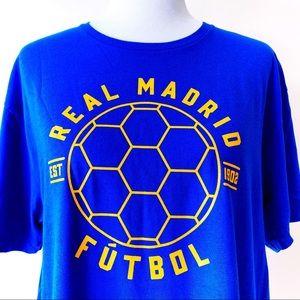 🆕 Adidas Real Madrid Futbol Soccer T-Shirt Mens